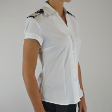 Womens Cap Sleeve Epaulet Blouse